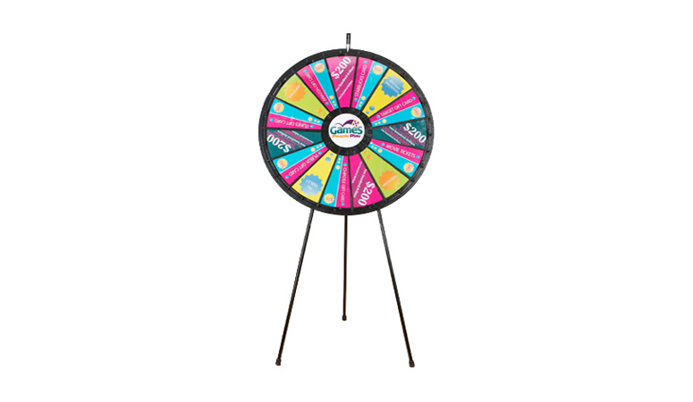 Big Custom Floor Stand Prize Wheel
