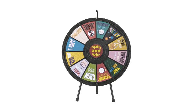 Custom Tabletop Prize Wheel