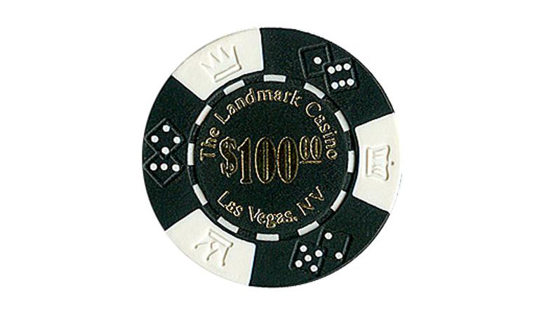 Casino chip landmark poker casino used slot machines