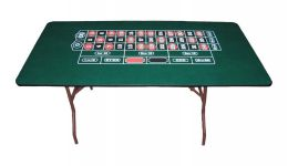 Basic folding roulette table made in the usa
