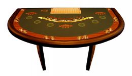 Blackjack table with solid legs made in the usa