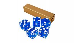 Blue casino craps dice
