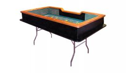 Deluxe folding craps table made in the usa