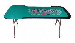 Deluxe folding roulette table made in the usa