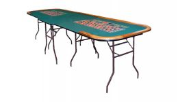 Double folding roulette table made in the usa