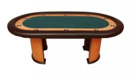 Poker table with race track made in the usa