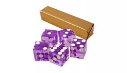 Purple casino craps dice