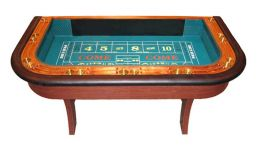 Single dealer craps table made in the usa