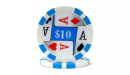 10 4 aces poker chip