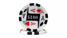 100 4 aces poker chip