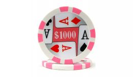 1000 4 aces poker chip