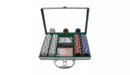 200 dice striped aluminum poker chip set
