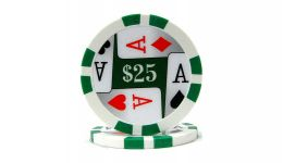 25 4 aces poker chip