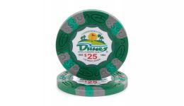 25 dunes poker chip