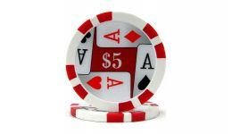 5 4 aces poker chip