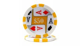 50 4 aces poker chip