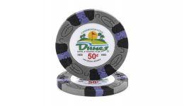 50 cent dunes poker chip