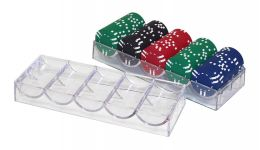 Clear acrylic poker chip tray