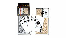 Copag black and gold jumbo index playing cards
