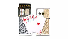 Copag black and gold regular index playing cards