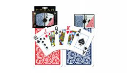 Copag blue and red jumbo index playing cards en