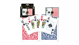 Copag blue and red jumbo index playing cards