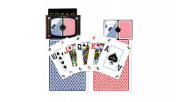 Copag blue and red peek index playing cards