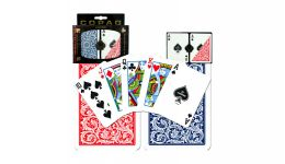 Copag blue and red regular index playing cards en