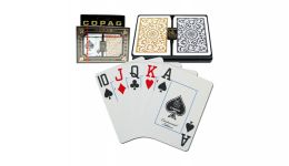 Copag gold and black jumbo index playing cards
