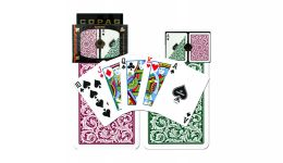 Copag green and burg regular index playing cards