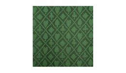 Emerald suited poker felt
