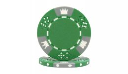 Green tri color triple crown poker chip