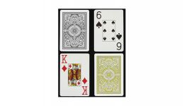 Kem black and gold jumbo index playing cards
