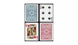 Kem red and blue standard index playing cards en