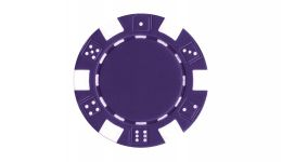Purple striped dice poker chip