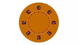 Round poker layout 10