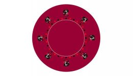 Round poker layout 8