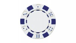 White striped dice poker chip