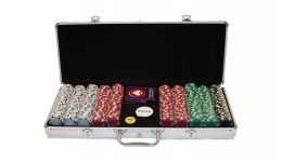 500 dice chips aluminum poker chip set