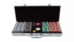 500 royal suited aluminum poker chip set