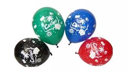 Casino theme latex balloon 10 pack