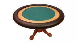 Deluxe round poker table made in the usa