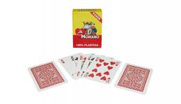 Modiano red regular index playing cards