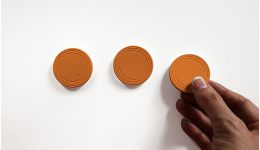 Orange mini plinko puck 3 set