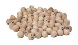 Wooden bingo balls