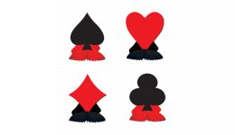 Card suit playmates 4 pack