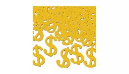 Gold dollar sign confetti