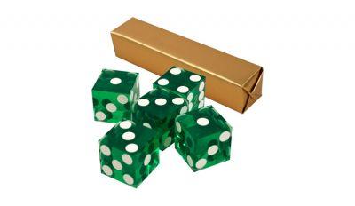Green casino craps dice
