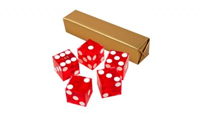 Red casino craps dice