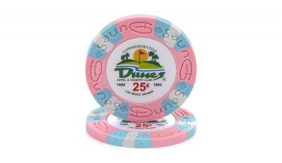 25 cent dunes poker chip